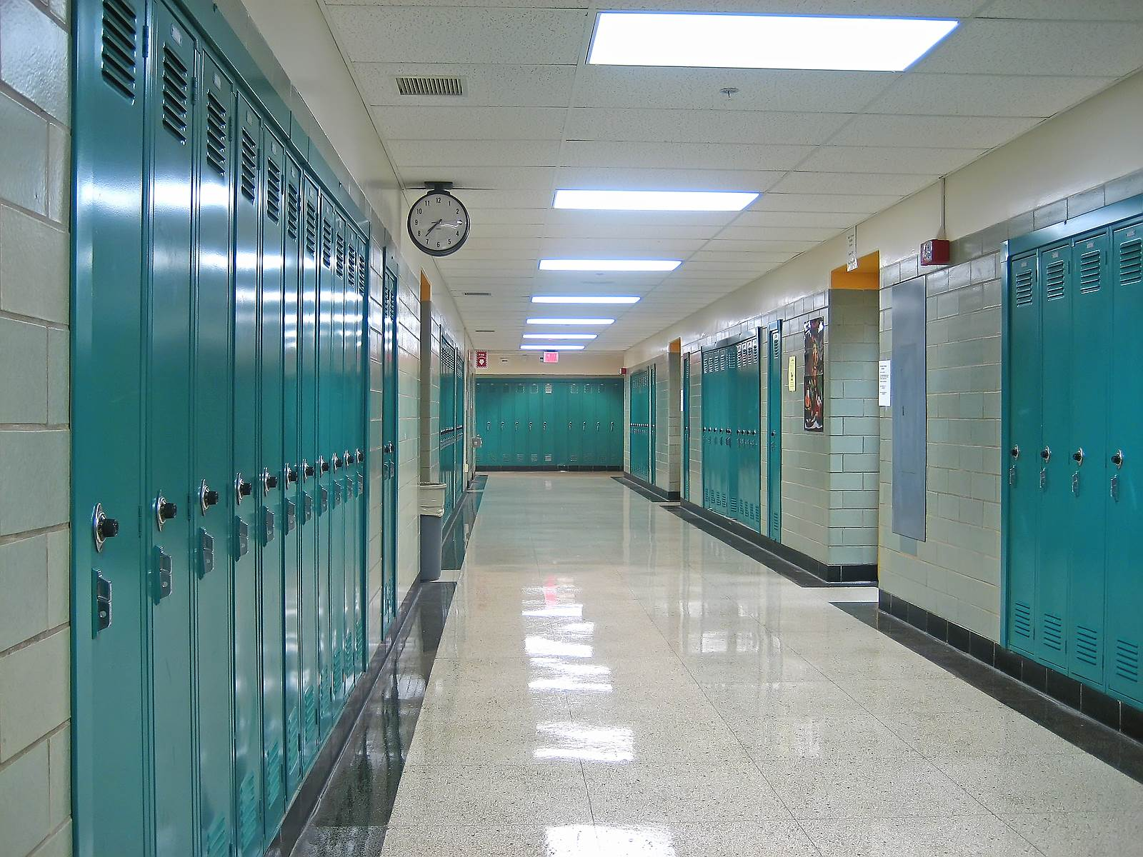 school hallway built with Owner Insite